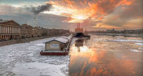 Winter sunset, Saint Petersburg, Russia