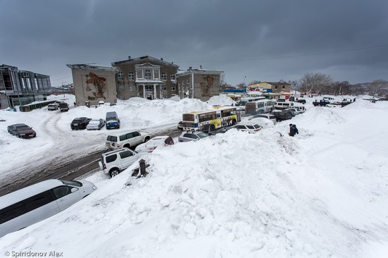 Petropavlovsk-Kamchatsky snow apocalypse, Russia, photo 1