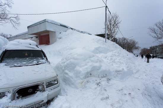 Petropavlovsk-Kamchatsky snow apocalypse, Russia, photo 14