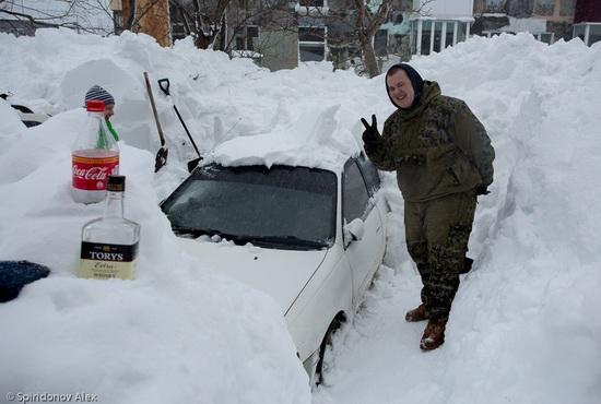Petropavlovsk-Kamchatsky snow apocalypse, Russia, photo 21