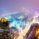 Samara city in winter time