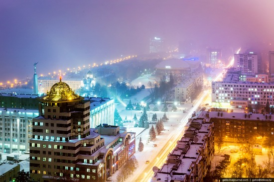 Samara city in winter time, Russia, photo 1