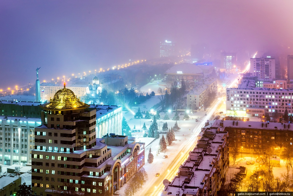 Samara city in winter ...