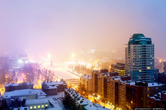 Samara city in winter time, Russia, photo 11