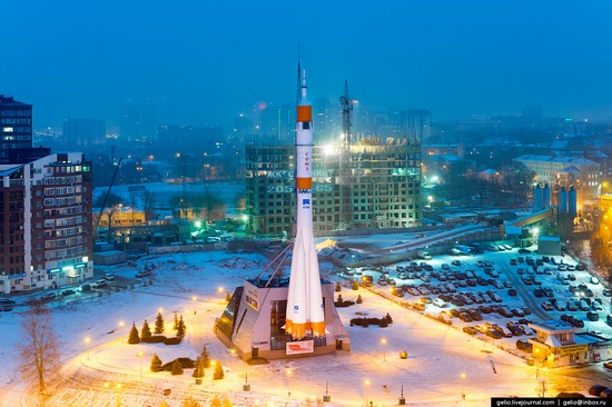 Samara city in winter time, Russia, photo 17