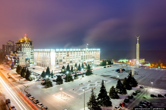 Samara city in winter time, Russia, photo 2