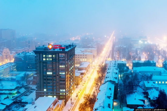 Samara city in winter time, Russia, photo 21