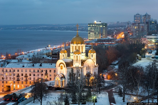 Samara city in winter time, Russia, photo 23
