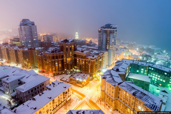 Samara city in winter time, Russia, photo 24