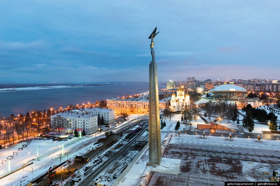 Samara city in winter time, Russia, photo 3