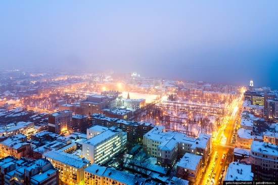 Samara city in winter time, Russia, photo 4