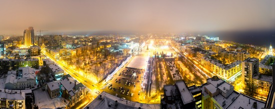Samara city in winter time, Russia, photo 7