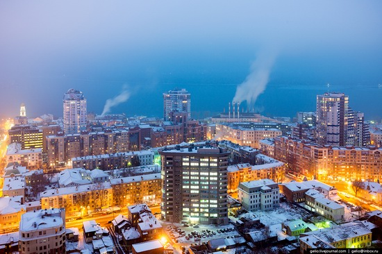 Samara city in winter time, Russia, photo 8