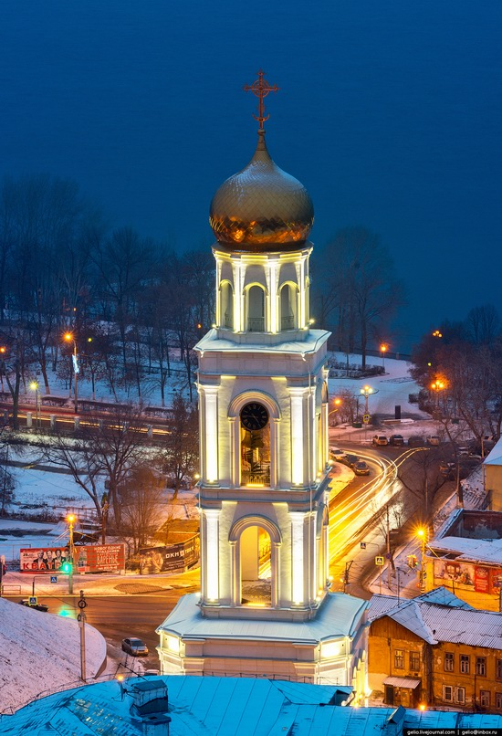 Samara city in winter time, Russia, photo 9