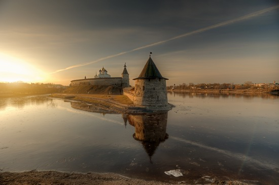 Early spring in Pskov city, Russia