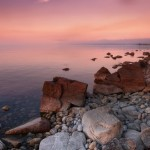 One evening on the shore of Lake Baikal