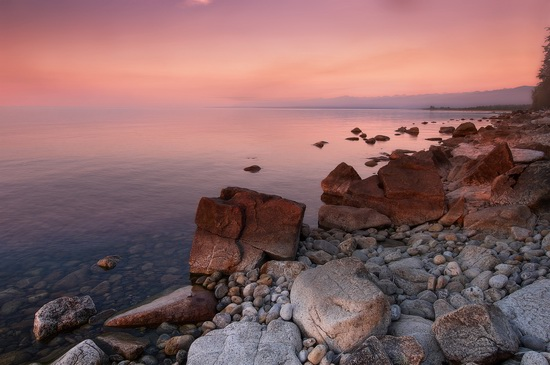 One evening on the shore of Lake Baikal, Russia, photo 1