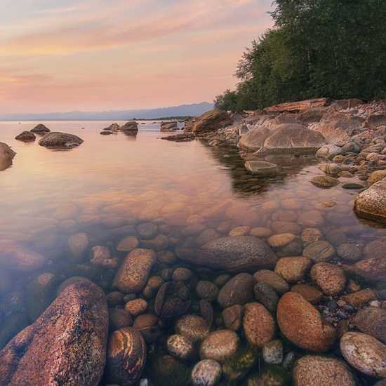 One evening on the shore of Lake Baikal, Russia, photo 3
