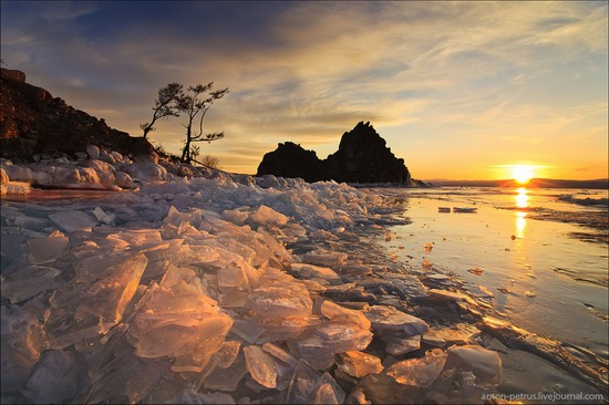 Ice fields of Lake Baikal, Russia, photo 1