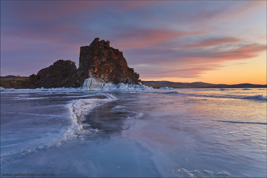 Ice fields of Lake Baikal, Russia, photo 2