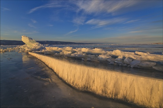 Ice fields of Lake Baikal, Russia, photo 3
