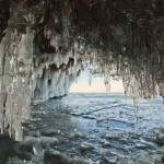 Picturesque landscapes of frozen Lake Baikal