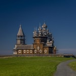 Kizhi churchyard in Lake Onega