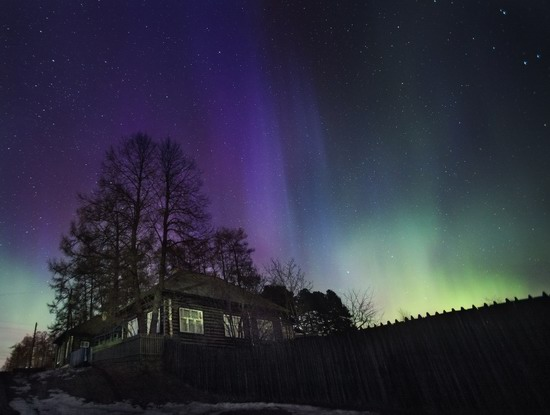Multicolored aurora borealis, Sverdlovsk region, Russia, photo 10