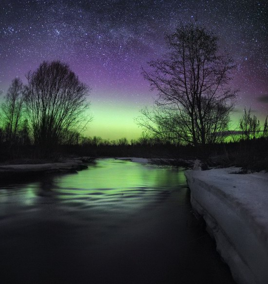 Multicolored aurora borealis, Sverdlovsk region, Russia, photo 14