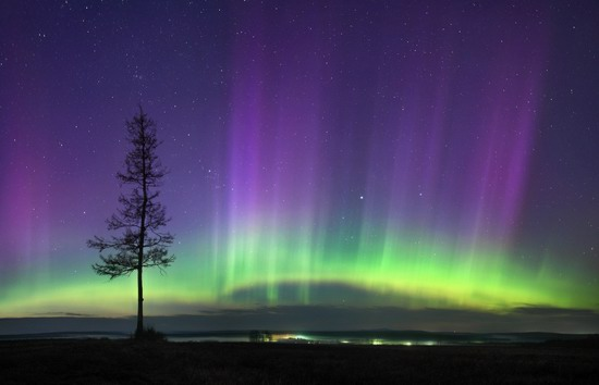 Multicolored aurora borealis, Sverdlovsk region, Russia, photo 16