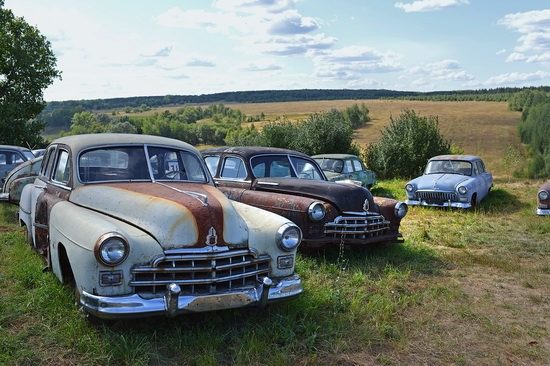 Open-air museum of Soviet cars in Chernousovo, Russia, photo 1