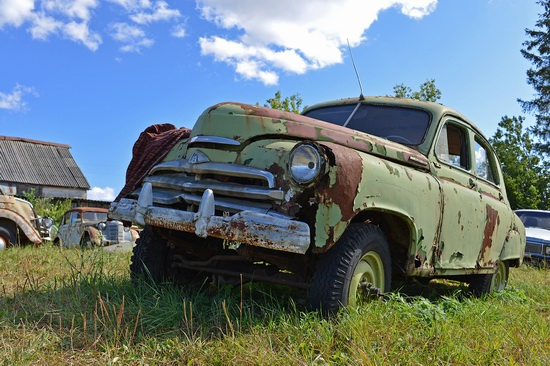 Open-air museum of Soviet cars in Chernousovo, Russia, photo 10