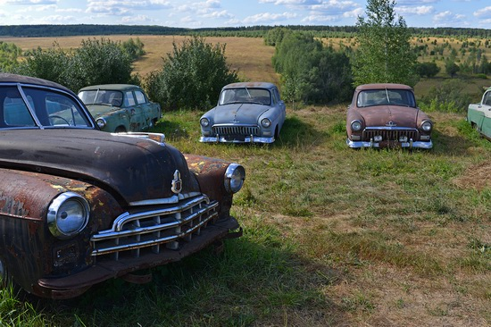Open-air museum of Soviet cars in Chernousovo, Russia, photo 2