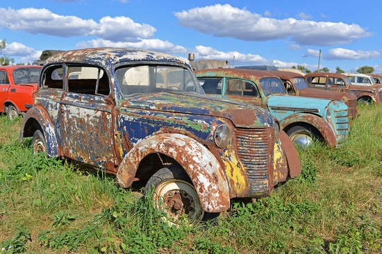 Open-air museum of Soviet cars in Chernousovo, Russia, photo 5