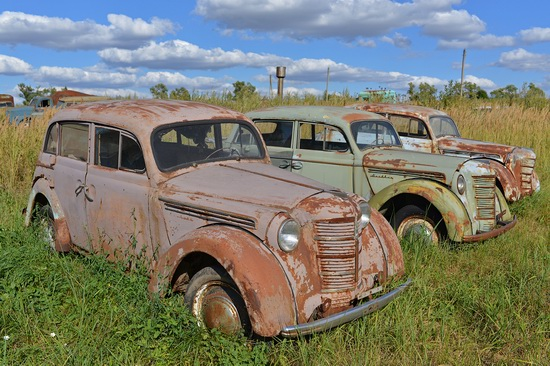 Open-air museum of Soviet cars in Chernousovo, Russia, photo 6