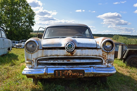 Open-air museum of Soviet cars in Chernousovo, Russia, photo 8