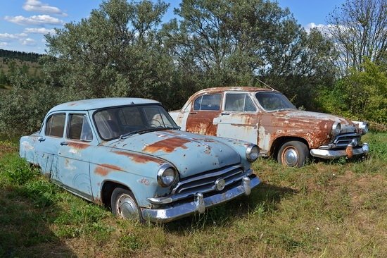Open-air museum of Soviet cars in Chernousovo, Russia, photo 9