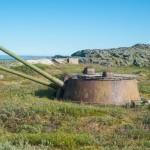 Abandoned coastal battery on the Kola Peninsula