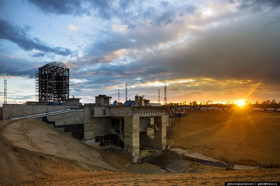 Construction of cosmodrome Vostochny, Russia, photo 1