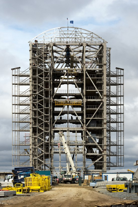 Construction of cosmodrome Vostochny, Russia, photo 10