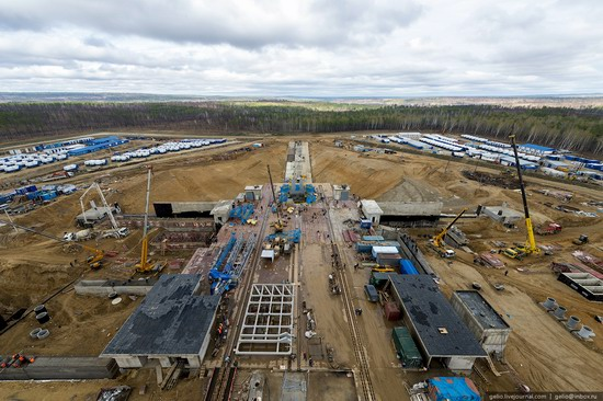 Construction of cosmodrome Vostochny, Russia, photo 14