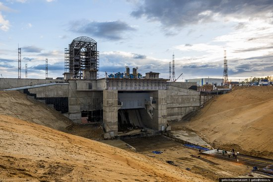 Construction of cosmodrome Vostochny, Russia, photo 15