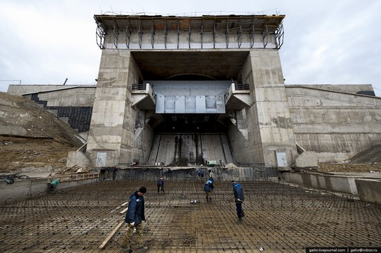 Construction of cosmodrome Vostochny, Russia, photo 17