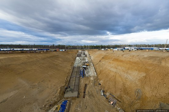 Construction of cosmodrome Vostochny, Russia, photo 18