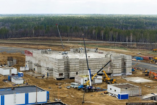 Construction of cosmodrome Vostochny, Russia, photo 19