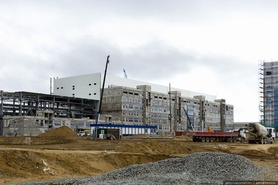 Construction of cosmodrome Vostochny, Russia, photo 4