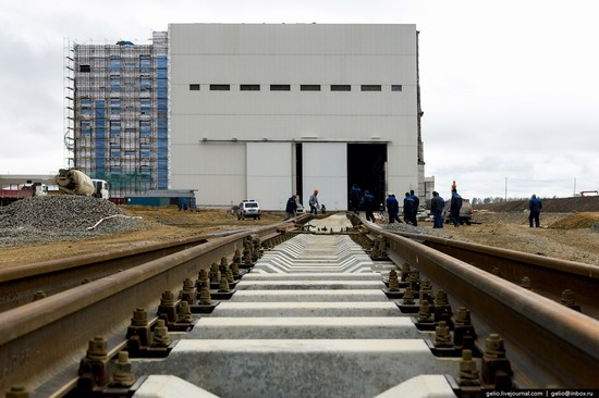 Construction of cosmodrome Vostochny, Russia, photo 7
