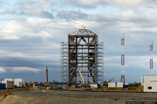 Construction of cosmodrome Vostochny, Russia, photo 9