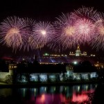 Fireworks in Moscow on Victory Day