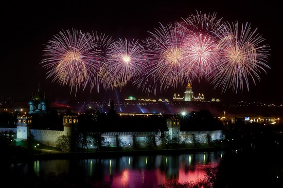 Fireworks on Victory Day in Moscow, Russia, photo 1